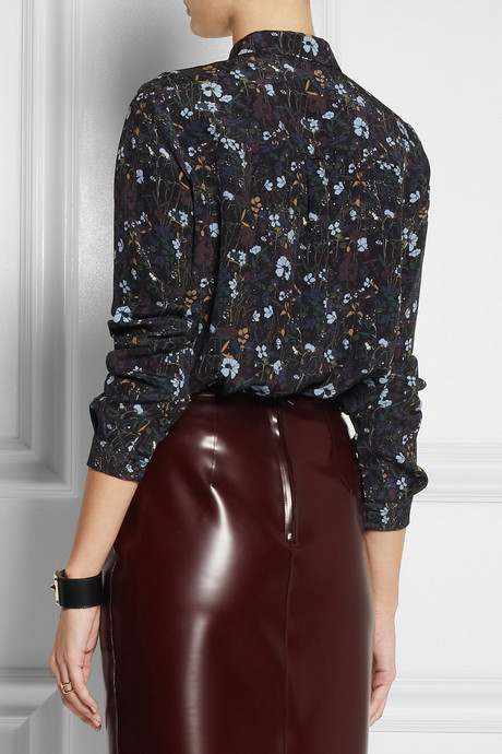 Mulberry Printed silk-crepe shirt