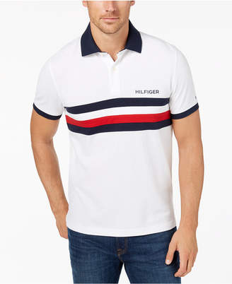 Tommy Hilfiger Men's Classic Fit Colorblocked Striped Polo, Created for Macy's