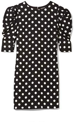 Vince Camuto Polka Dot Puff-shoulder Dress