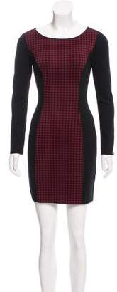 Ella Moss Houndstooth Mini Dress