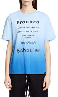 Proenza Schouler White Label PSWL Ombre Graphic Tee