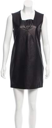 The Row Leather Shift Dress