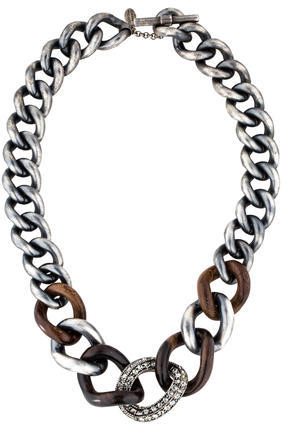 Lanvin Lanvin Crystal Chain-Link Necklace