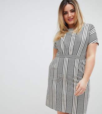 Yumi Plus Striped Skater Dress