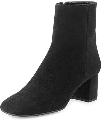 pradaPrada Suede Square-Toe 55mm Ankle Boot