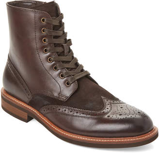 Kenneth Cole Reaction Brown Klay Wingtip Leather Boots