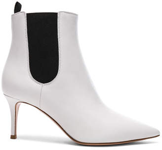 Gianvito Rossi for FWRD Leather Evan Stiletto Ankle Boots