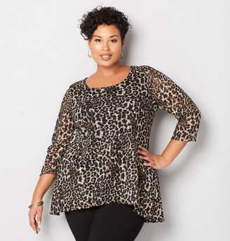 Avenue Leopard Lace Split Back Tunic