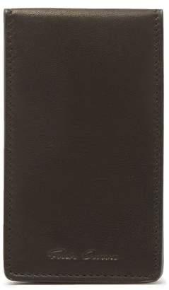 Rick Owens - Bi Fold Leather Cardholder - Mens - Black