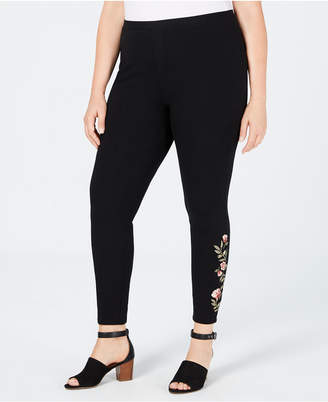 Style&Co. Style & Co Plus Size Embroidered Leggings, Created for Macy's