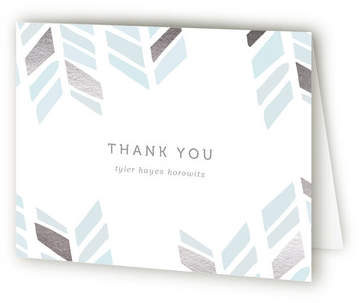 Arrow Head Foil-Pressed Mitzvah Thank You Cards