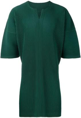 Issey Miyake Homme Plissé pleated loose T-shirt