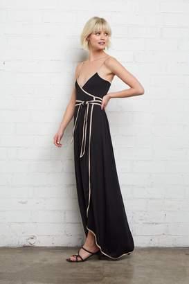 Rachel Pally Britta Wrap Dress - Black / Bamboo