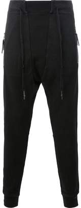 11 By Boris Bidjan Saberi drawstring zipped pockets sweatpants