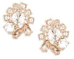 Marchesa Crystal Cluster Button Stud Earrings