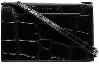 fd3ef12f9f Saint Laurent black Catherine croc print patent leather shoulder bag