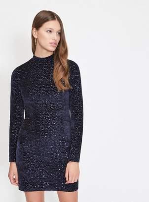Miss Selfridge Navy sequin bodycon dress
