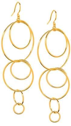 Gorjana Wilshire 18K Gold Plated Interlocked Hoop Drop Earrings