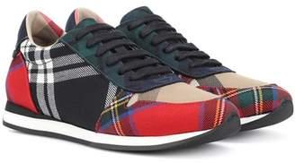 Burberry Amelia tartan wool sneakers