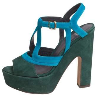 Castaner Green Suede Sandals