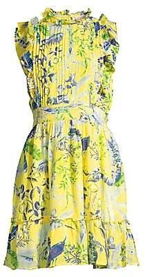 Banjanan Women's Hyacinth Silk A-Line Mini Dress