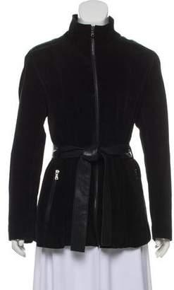 Andrew Marc Suede Zip-Up Jacket