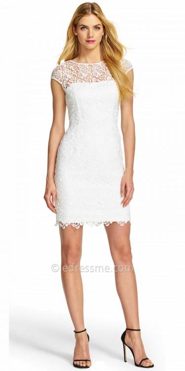 Adrianna PapellAdrianna Papell Illusion Lace Overlay Cocktail Dress