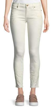 True Religion Halle Mid-Rise Skinny Jeans with Embroidery