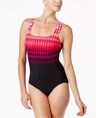 Reebok Trailblazer Tribal-Stripe Active One-Piece Swimsuit Women's Swimsuit