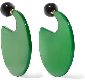Marni Resin Earrings - Green