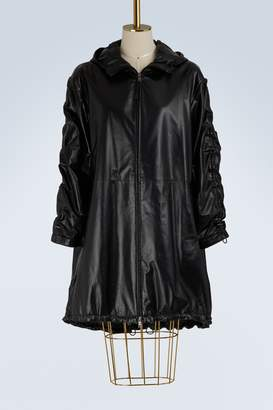 Prada Hooded leather parka