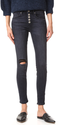 McGuire Denim Newton Skinny Jeans with Exposed Button Fly $231 thestylecure.com