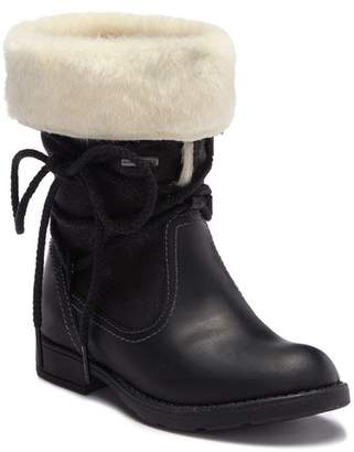 Geox Sofia Faux Fur Leather Boot (Little Kid & Big Kid)