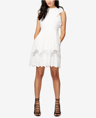 RACHEL Rachel Roy Ruffled Embroidered Fit & Flare Dress $149 thestylecure.com