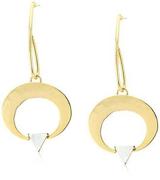 Yochi Drop Circle of Love Earrings