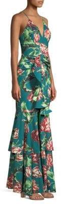 PatBO Ruffle Maxi Dress