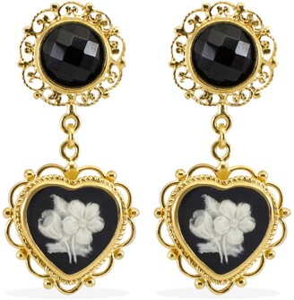 Vintouch Italy Bouquet Cameo Earrings