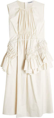 Jil Sander Escape Sleeveless Cotton Dress