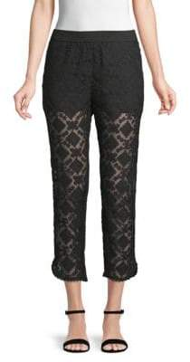 Club Monaco Terry Embroidered Lace Pants