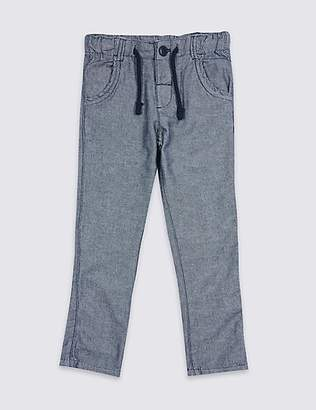 Marks and Spencer Pure Cotton Textured Trousers (3 Months - 7 Years)