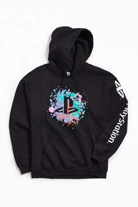 Urban Outfitters PlayStation Puff Applique Hoodie Sweatshirt