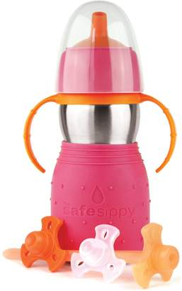 Kid Basix Safe Sippy 2 Drinking Bottle Pink