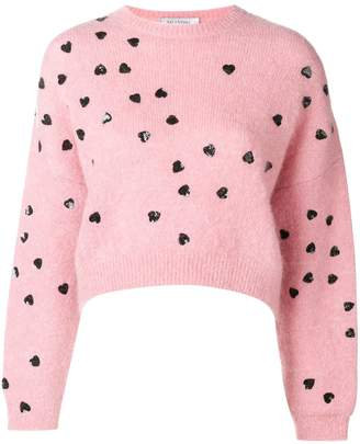 Valentino heart embellished sweater