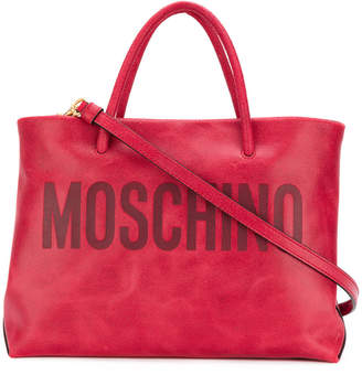 Moschino embossed logo tote bag