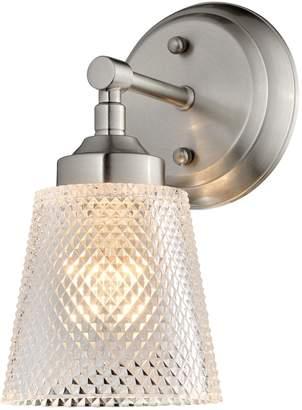 Varaluz Lighting 312B01BN Westport - One Light Bath Vanity, Finish with Clear Waffle Glass