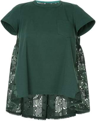 Sacai embroidered blouse