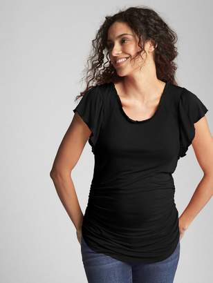 Gap Maternity Ruffle Trim Crewneck T-Shirt