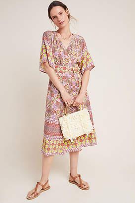 Mirabelle Kachel Midi Wrap Dress