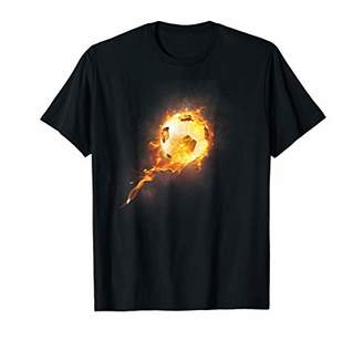 Soccer Ball on Fire Shirt Football Jersey for Boys Girls Kid