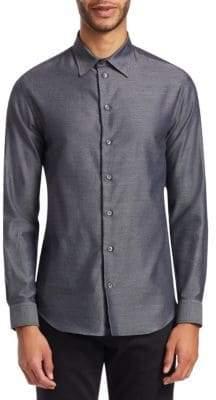 Emporio Armani Melange Twill Button-Down Shirt